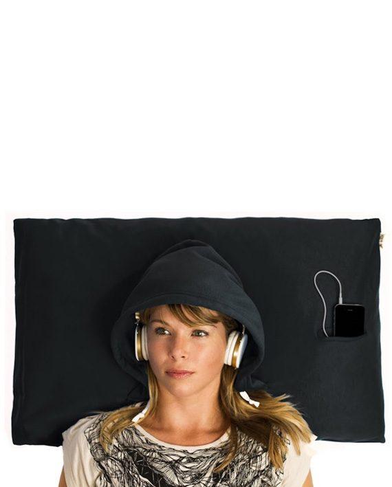 hoodie pillow black