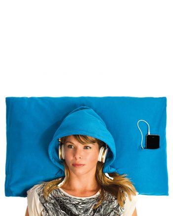 hoodie pillow blue
