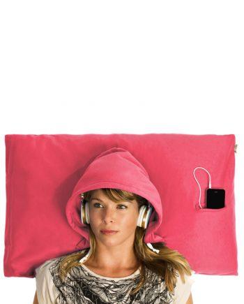 hoodie pillow pink