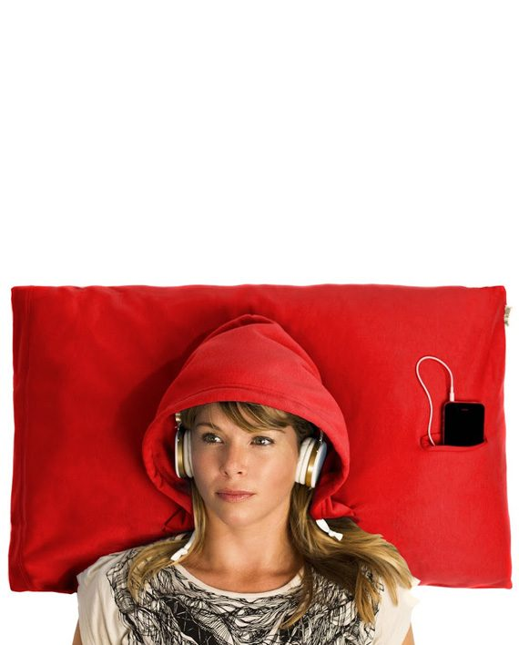 hoodie pillow red
