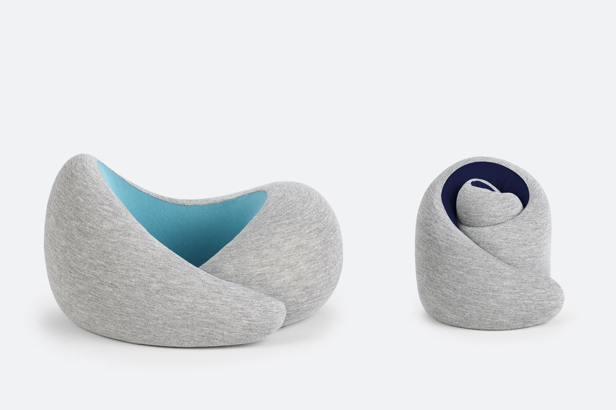Ostrich pillow go velcro nekkussen verstelbaar door klittenband