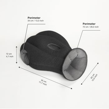 ostrichpillow original midnight grey 3