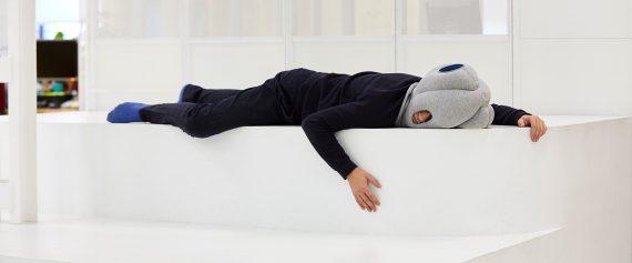ostrichpillow original ostrich pillow official travel nap sleepy blue home block4